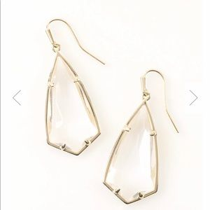Kendra Scott Carla Drop Earring Gold/Clear Crystal